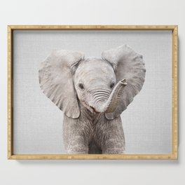 Baby Elephant - Colorful Serving Tray