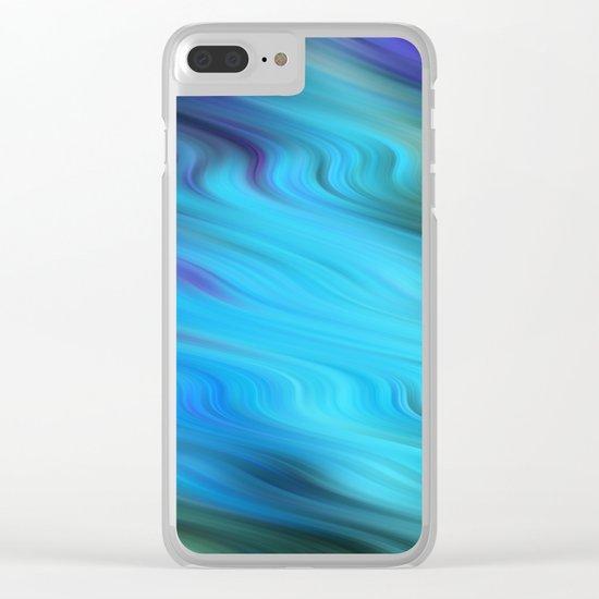 Down Stream Clear iPhone Case