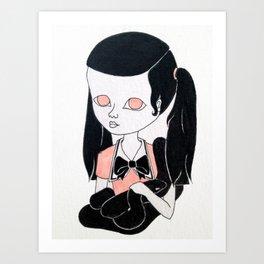 kawaii girl with snake Art Print