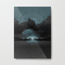 Beyond the Fog Lies Clarity | Midnight Metal Print