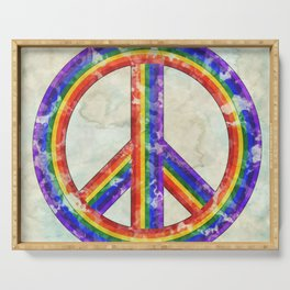 Rainbow Pride Peace Serving Tray