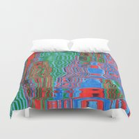 shower Duvet Covers featuring Shower by Rocovich