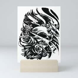 Skull collage,custom gift design Mini Art Print