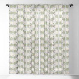 Vintage Summer Bloom Pattern Sheer Curtain