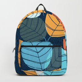 Contemporary Leaf Print Backpack