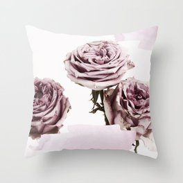 ROSE TRIO Throw Pillow