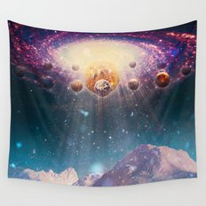 Descending worlds Wall Tapestry