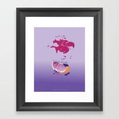 sences tangerine jelly purple Framed Art Print