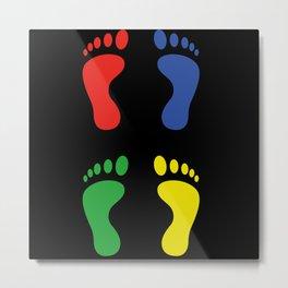 Foot Footprint Barefoot Metal Print