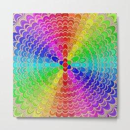 Colorful Mandala Flower Metal Print