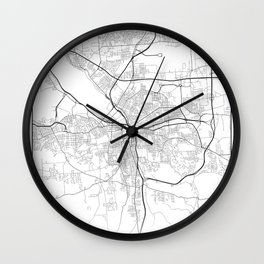 Minimal City Maps - Map Of Syracuse, New York, United States Wall Clock