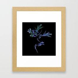 Winter Tree Fractal Framed Art Print