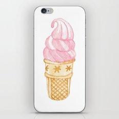 Watercolour Illustrated Ice Cream - Strawberry Swirl iPhone & iPod Skin