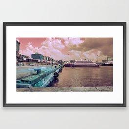 Port of Naples Experimental Framed Art Print