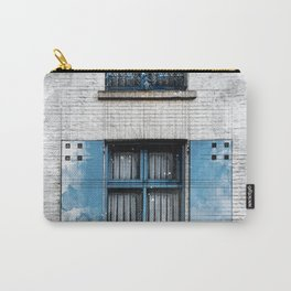 Architect Drawing of Blue Wooden Windows Carry-All Pouch