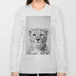 Cheetah - Black & White Long Sleeve T-shirt