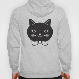 Dapper Black Kitty Cat Hoody
