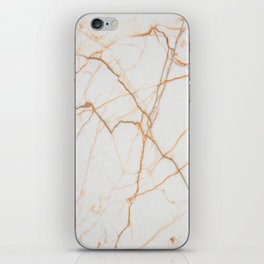 stylish minimalist trendy chic rose gold white marble iPhone Skin