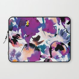 Sara Floral Blue Laptop Sleeve