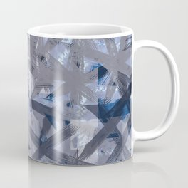 Indigo Shibori Multilayered Digital Painting Coffee Mug