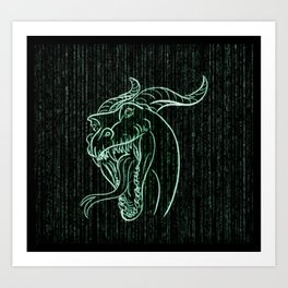 Wyrm in the Shell Art Print