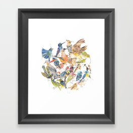 Bird Circle Framed Art Print