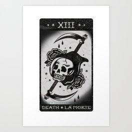 Death - La Morte - Tarot Card Art Print