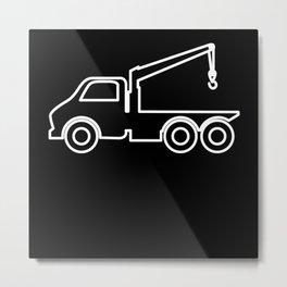 Tow Truck Operator Towing Truck Wrecker Tow Truck Metal Print