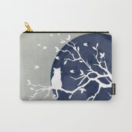 Blue moon | Dark moon | Cat on tree branch | Witchy cat | Wicca Carry-All Pouch