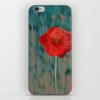 alone iPhone & iPod Skins featuring Alone by Klara Acel