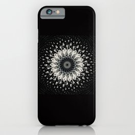 Black Thorn Medalion iPhone Case