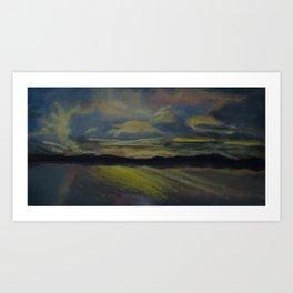 Summer Sunset Over Lake Winnipesaukee in New Hampshire Art Print
