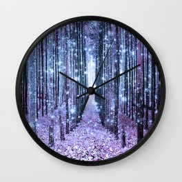 Magical Forest Lavender Ice Blue Periwinkle Wall Clock