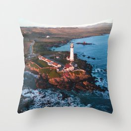 Pigeon Point Lighthouse, California Throw Pillow