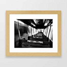 Train ride Framed Art Print