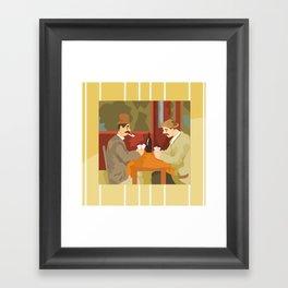 Card players by Cezanne Framed Art Print