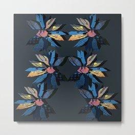 Paper Indigo Petals Metal Print