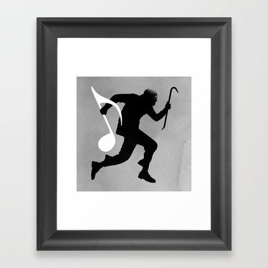 Ripped Framed Art Print