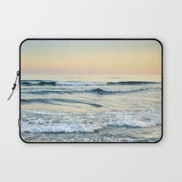 Serenity sea. Vintage. Square format Laptop Sleeve