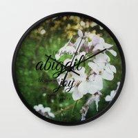 abigail larson Wall Clocks featuring Abigail by KimberosePhotography