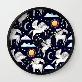 Pegasus, Son of Poseidon Wall Clock
