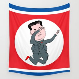 North Korea Dabbing Wall Tapestry