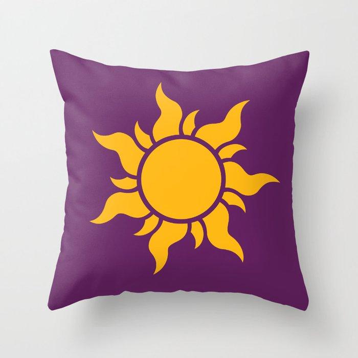 Tangled Rapunzel Sun Logo - Corona Symbol Throw Pillow