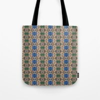 Blue Rose geometric pattern tote bag by photosbyhealy