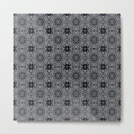 Sharkskin Star Geometric Metal Print