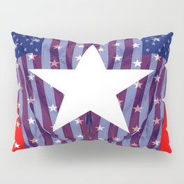 RED, WHIT , BLUE AMERICANA STARS Pillow Sham