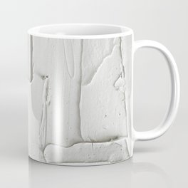 Relief [3]: an abstract, textured piece in white by Alyssa Hamilton Art  Coffee Mug