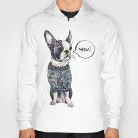 boston terrier Hoodies featuring Boston terrier by Bananastuff