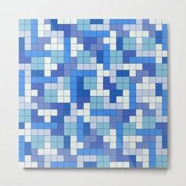 Tetris Camouflage Marine Metal Print