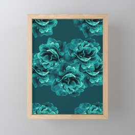 Turquoise Peony Flower Bouquet #1 #floral #decor #art #society6 Framed Mini Art Print
